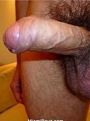 Latino stud jacking off hard uncut cock - Gay porn pics at GayStick.com