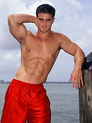 Young jock Alain Lamas by the water - Gay porn pics at GayStick.com
