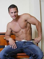 Fit jock Phil Helm strips off his clothes - Gay porn pics at GayStick.com