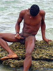 Black straight boy at the nature - Gay porn pics at GayStick.com