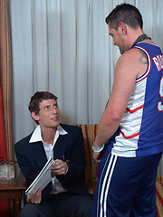 Young geek getting laid by his mature gay coach - Gay porn pics at GayStick.com