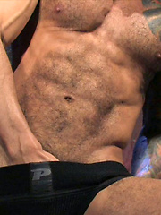 Hairy boy Alexsander Freitas is very happy to show off that superior body for the camera - Gay porn pics at GayStick.com