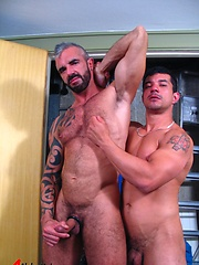 Silver daddy guy fucking his gayfriend - Gay porn pics at GayStick.com