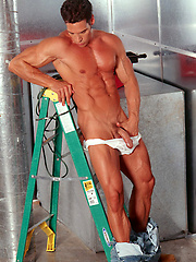 Sexy repairman does more than fix the AC - Gay porn pics at GayStick.com