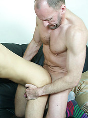 Young hunk done orally and anally by a gay oldie - Gay porn pics at GayStick.com
