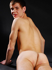 Lean smooth-skinned twinkie slowly stripping naked - Gay porn pics at GayStick.com