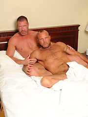 Lee bends Chad over and rims his raw ass deep - Gay porn pics at GayStick.com