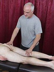 Hairy hunk Dirk Willis is back to older Jake Cruise for a rubdown - Gay porn pics at GayStick.com