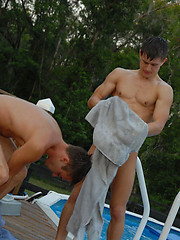 Steaming poolside twink fornication - Gay porn pics at GayStick.com