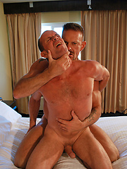 Bill bent over with Colins face buried deep in his ass crack - Gay porn pics at GayStick.com