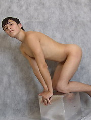 Artful posing is not enough for this adorable twink – he wants some action! - Gay porn pics at GayStick.com