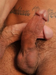 Brenn undoes his jeans and hauls out his cock and shoves it into Codys willing mouth - Gay porn pics at GayStick.com
