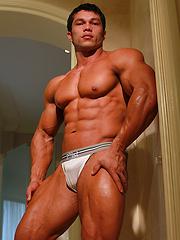 Beautiful muscle boystud Angel Cordoba has pretty hard butt - Gay porn pics at GayStick.com