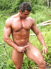 Hot tanned beffy hunk Frank outdoor pictures - Gay porn pics at GayStick.com