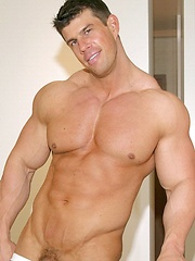 Huge muscle star Zeb dressed in jockstrap