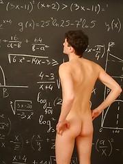 Boy model Dimax jerking off in the classroom - Gay porn pics at GayStick.com