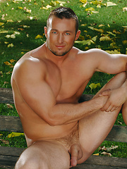 Garden worker relaxing at grass - Gay porn pics at GayStick.com