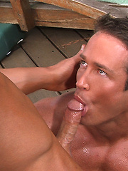 Muscle hunk ass fucked outdoors