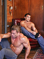 Hunks love each other holes
