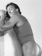 Vinage pics of a hot hairy hunk - Gay porn pics at GayStick.com