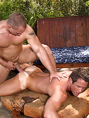 Muscled hunks fucking outdoor - Gay porn pics at GayStick.com