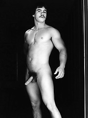 Guy with a mustache in hot retro pics - Gay porn pics at GayStick.com