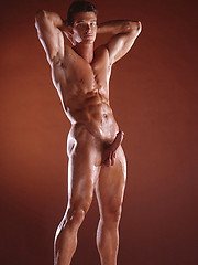 Hot muscled and naked cowboy