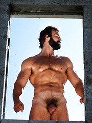 Daddy posing in retro style - Gay porn pics at GayStick.com