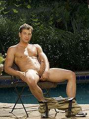 Naked college stud posing after lessons - Gay porn pics at GayStick.com