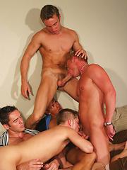 Five hot studs in orgy - Gay porn pics at GayStick.com