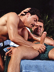 Guys from 70`s in threesome group sex - Gay porn pics at GayStick.com