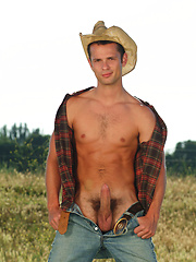 Cowboy getting naked