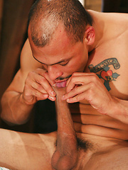 Hairy hunk sucking his own cock - Gay porn pics at GayStick.com