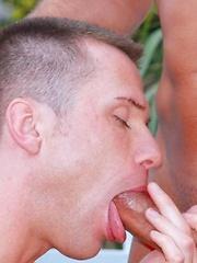 Gay threesome - Gay porn pics at GayStick.com