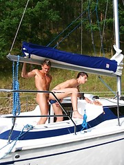 Bareback gay sex on yacht - Gay porn pics at GayStick.com