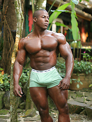 Powerful, straight black bodybuilder Orso Orfeo