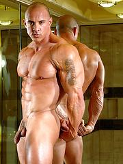 Bald muscled hunk Vin Marco - Gay porn pics at GayStick.com