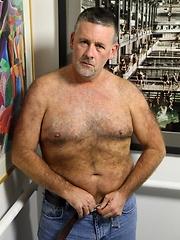 Hairy mature man Patrick Montana - Gay porn pics at GayStick.com