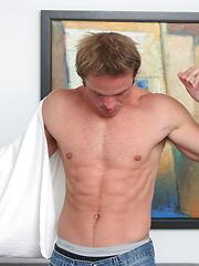 Shawn masturbating his piece of meat