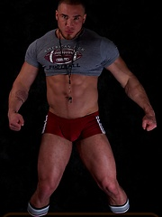 Sexy bodybuilder Angelo shows off his jock butt - Gay porn pics at GayStick.com