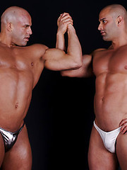 Big Roger and Peter Latz pose together - Gay porn pics at GayStick.com