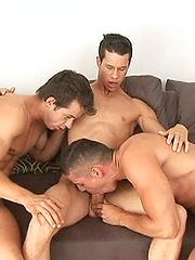 Henry, Manuel and Ralph have sex - Gay porn pics at GayStick.com