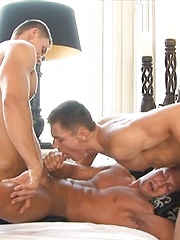 European twin gays goes into wild threesome - Gay porn pics at GayStick.com