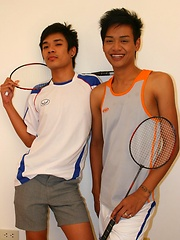 Three Thai Gay Boys in The Badminton Big Cock - Gay porn pics at GayStick.com