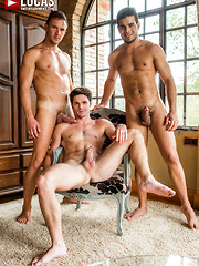DEVIN FRANCO TAKES DOUBLE THE COCK FROM ANDREY VIC AND RICO MARLON - Gay porn pics at Gaystick