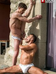 RUSLAN ANGELO TAKES MANUEL SKYE'S DADDY DICK RAW - Gay porn pics at Gaystick