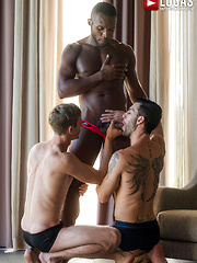 ANDY STAR AND CHRISTIAN HAYNES SERVICE ANDRE DONOVAN'S BIG BLACK COCK - Gay porn pics at Gaystick