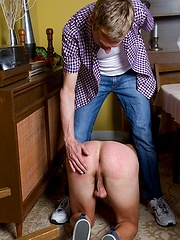 Dad give son a hard spanking that he wont soon forget