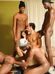 Horny black studs fucking after Twister game - Gay porn pics at GayStick.com