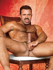 Big hairy gay bear in vintage photo session - Gay porn pics at GayStick.com
